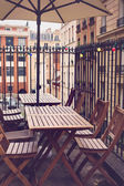 Restaurant tables and chairs — Stock Photo