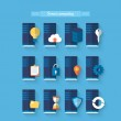 Flat icons for server computing — Stock Vector #47774453