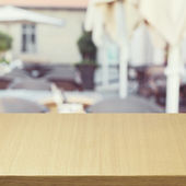 Wooden table — Stock Photo