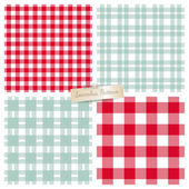Checkered seamless pattern set. — Stock Vector
