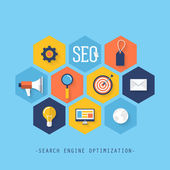 Infographics of website SEO optimization — Vettoriale Stock
