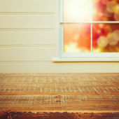 Window and vintage table — Stock Photo