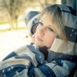 Stock Photo: Beautiful blonde sad