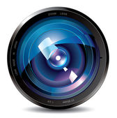 Professional photo lens — Stock Vector