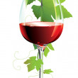 Red wine glass — Stock Vector