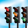 Traffic light — Vector de stock #20987047
