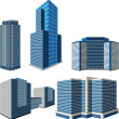 Stock Vector: Set of buildings