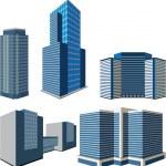 Set of buildings — Stock Vector #20988269
