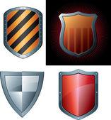 Set di scudo di sicurezza — Vettoriale Stock