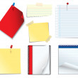 Note paper set — Stock Vector #21500101