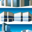 Buildings set - Stock Vector