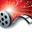 Stock Vector: Cinemfilm roll