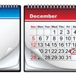 December calendar — Stock Vector #21501403