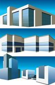 Buildings set — Stock Vector
