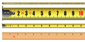 Tape measure length in centimeters — Stock Vector