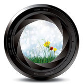 Professional photo lens — Vector de stock