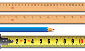 Tape measure length in centimeters — Wektor stockowy