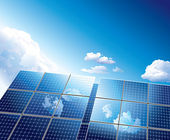 панель солнечных батарей — Cтоковый вектор