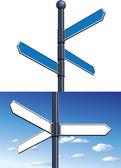 Signpost — Stockvektor