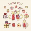 Royalty-Free Stock Imagen vectorial: I love you