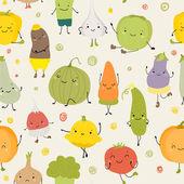 Cartoon Vector Illustration of Funny Vegetables Food — Stock Vector