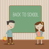 A vector illustration of a back to school background — Stock Vector