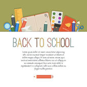 Back to school. Cute vector background with empty place for your text — Stock Vector