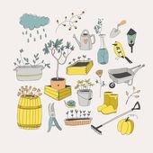 Herramientas de jardinería — Vector de stock
