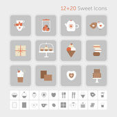 Sweet icons — Stock Vector