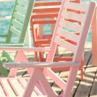 Beach chair on the berth — Stock Photo