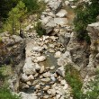 View on the rocks on mountain stream — Stock Photo