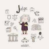 Judge — Stock Vector