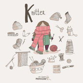 Knitter — Stock Vector