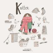 Knitter — Stock Vector