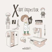 X-ray inspector — Stock Vector