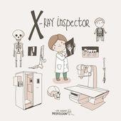 X-ray inspector — Stock Vector