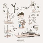 Yachtsman — Stock Vector