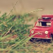 Toy mini car with luggage — Stock Photo #50634547