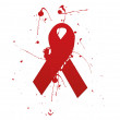 Stock Photo: Aids ribbon