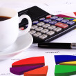 Coffee and accounting — Stock Photo