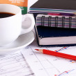 Royalty-Free Stock Photo: Coffee and accounting