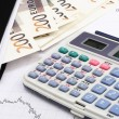 Calculator and money — Stock Photo #25769003