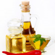 Olive oil and pepper — Stock Photo