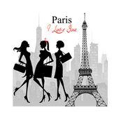 Paris - uma cidade de amor e romantismo — Foto Stock
