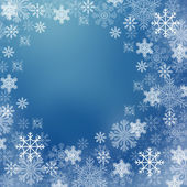 Snowflakes in blue and white tone — Stock Photo