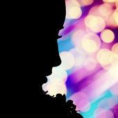 Profil de visage de la jeune fille — Photo
