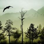 The birds fly away — Stock Photo