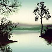Landscape on the lake — Stock Photo