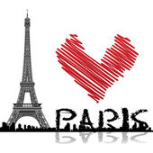 Paris background — Stock Photo