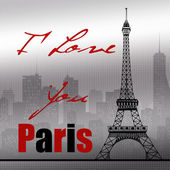 Paris background — Stock Photo